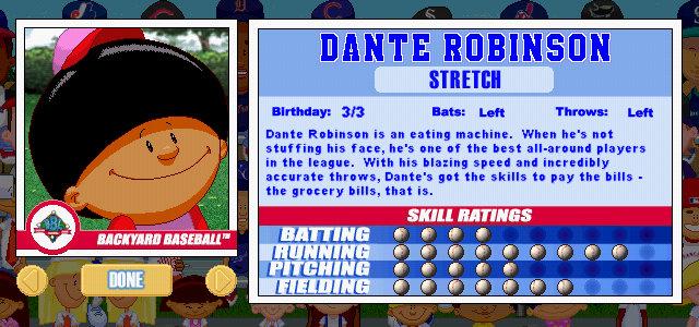 Dante Robinson Backyard Baseball dante robinson « cespedes family barbecue